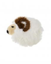 アイボリー●アイボリー<br />ムートンシートクッション 羊くん○NC001