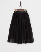 BLACK●ロング丈チュールスカート○3552L