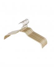 ゴールド●レディース 滑りにくいハンガー10本○110565