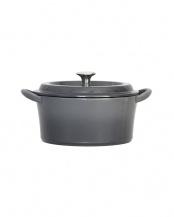 グレー●キャストポット(鉄鋳物ホーロー鍋) 20cm○CP-20GY