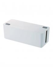ホワイト●ケーブルすっきりボックス(6個口タップサイズ)○EKC-BOX001WH