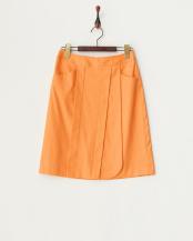 オレンジ●ラップ風デザインスカート○311133035