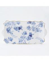 エリザベスローズ ブルー サンドイッチ トレイ○EROB20647C