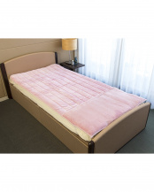 ピンク●[シングル]発熱素材サンバーナー使用 暖か敷きパッド足入れポケット付○628754BO