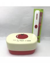 企業コラボ弁当箱 カゴメ 箸・箸箱付○CCC-002/CCL-002