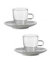COFFEE (エスプレッソ)<br />カップ&ソーサー 2個セット○114720