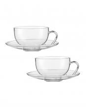 TEA(RELAX)ティーカップ&クリアソーサー 2個セット○118719