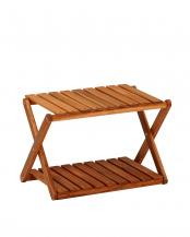 折りたたみ式 木製ラック 46×30×31cm○VGCC-7357