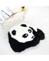 ホワイト×ブラック●パンダ ミニラグ○NC077