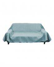 ブルー●タオル素材でさらさら綿パイルマルチカバー 190×280cm○630384BO