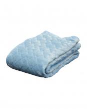 ブルー●あったか吸湿発熱中わた使用 フランネル敷きパッド 中綿増量タイプ セミダブル○630736BO