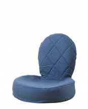 ネイビー●ラグス 折りたたみ式座椅子○IKC-03-NV