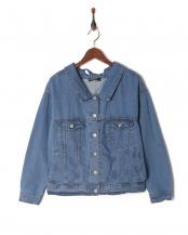 ブルー●レースアップジャケット○F02-5006