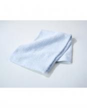 ブルー●細番手高級糸「コーマ綿」 フェイスタオル 4枚セット○EF-TW09fx4
