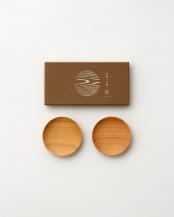 ナチュラル●山桜ノ木皿2枚セット 豆皿○WDH-0059