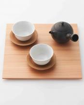 ナチュラル●杉膳 (茶膳)○WDH-0064