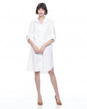 ホワイト●ロングシャツワンピース○IT-5523