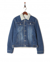 blue●boa denim jacket○AZO-808