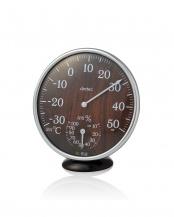 ダークウッド●アナログ温湿度計○O-319