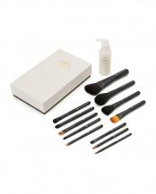 黒●KASHOEN BASICシリーズ(Aクラス) BB 化粧筆12本&ブラシクリーニングリキッドセット (箱入り)○B/BB12Br&BCL