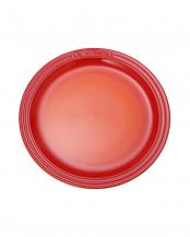オレンジ●ラウンド・プレート LC 27cm (2枚入り)○91013227090070