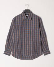 ブルー●微起毛スペック染チェック柄RGシャツ○K81501