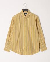 カラシ●ウール混微起毛スペックストライプBDシャツ○K81502
