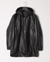 ブラック●メンズラムジャケット フード付き○FM-1947