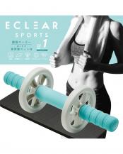 【みんなが買った人気アイテム】「腹筋ローラー/トレーニングブック付き」  ビギナー/幅広タイプ/専用膝マット付/エクリアスポーツ○HCF-ARWBUL