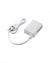 ホワイト●「USBタップ」 急速充電/USBメス×4ポート/60cm/3.1A○MOT-U06-2144WH
