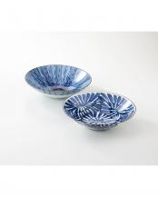 古染紋 手描き多用鉢ペア○4965451191997
