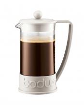 オフホワイト●ブラジル フレンチプレスコーヒーメーカー 1.0L○10938-913J