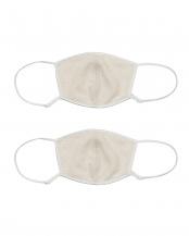 オフホワイト✕2●シルク おやすみマスク2枚セット○CO-0866-02×2