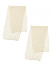 オフホワイト✕2●お風呂で使うシルクの美容洗浄タオル2枚セット○CO-0750B-02×2