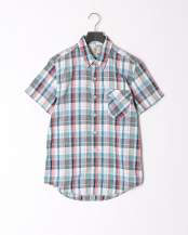 Spiced Coral YD●AF SS Plaid Coolmax shirt SPIC○TB0A1M3CE931