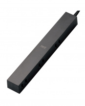 ブラック●「デザインタップ」 ほこりシャッター付き/6個口/1.5m○AVT-D3-2615BK