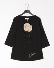 98/無彩色I(ブラック)●ローズモチーフTシャツ○23189120