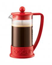 レッド●ブラジル フレンチプレスコーヒーメーカー 350mL○10948
