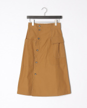 BEIGE●CARGO POCKET COTTON CANVAS SKIRT○GV1911012