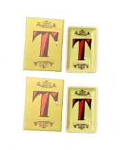 T ●アルファベットステュディオ イニシャルインテリアトレー2個セット○86312-T