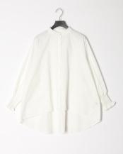 WHITE●バンドカラーバックテールシャツ○5596