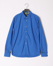 BLUE●タイプライターベンチレーションシャツ○NF923