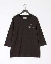 BLACK●WJ8分Tシャツ○8191-01310