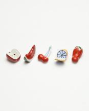 フルーツ5色 箸置揃○4965089871353