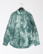 GREEN●TIE DYE LOOSE FIT R/C SHT○MA-S-502