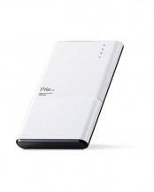 ホワイト●「モバイルバッテリー」 薄型/おまかせ充電対応/3000mAh/1.5A○DE-M05-N3015WH