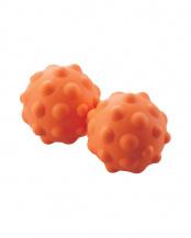 オレンジ●「伸びるストレッチボール」 凸タイプ/ハード/全身のコリに届く○HCK-PBTRHDR