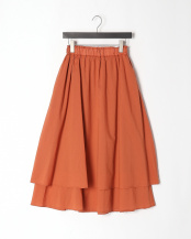 オレンジ●綿ボイルフレアスカート○151-23243