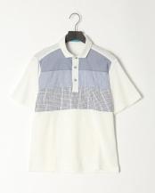 ホワイト●胸切替ポロシャツ○PSA91-22031