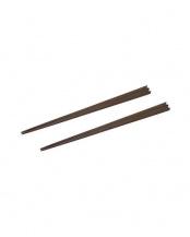 黒檀●天然木の箸 V字 ペア(2膳セット)○056-04170